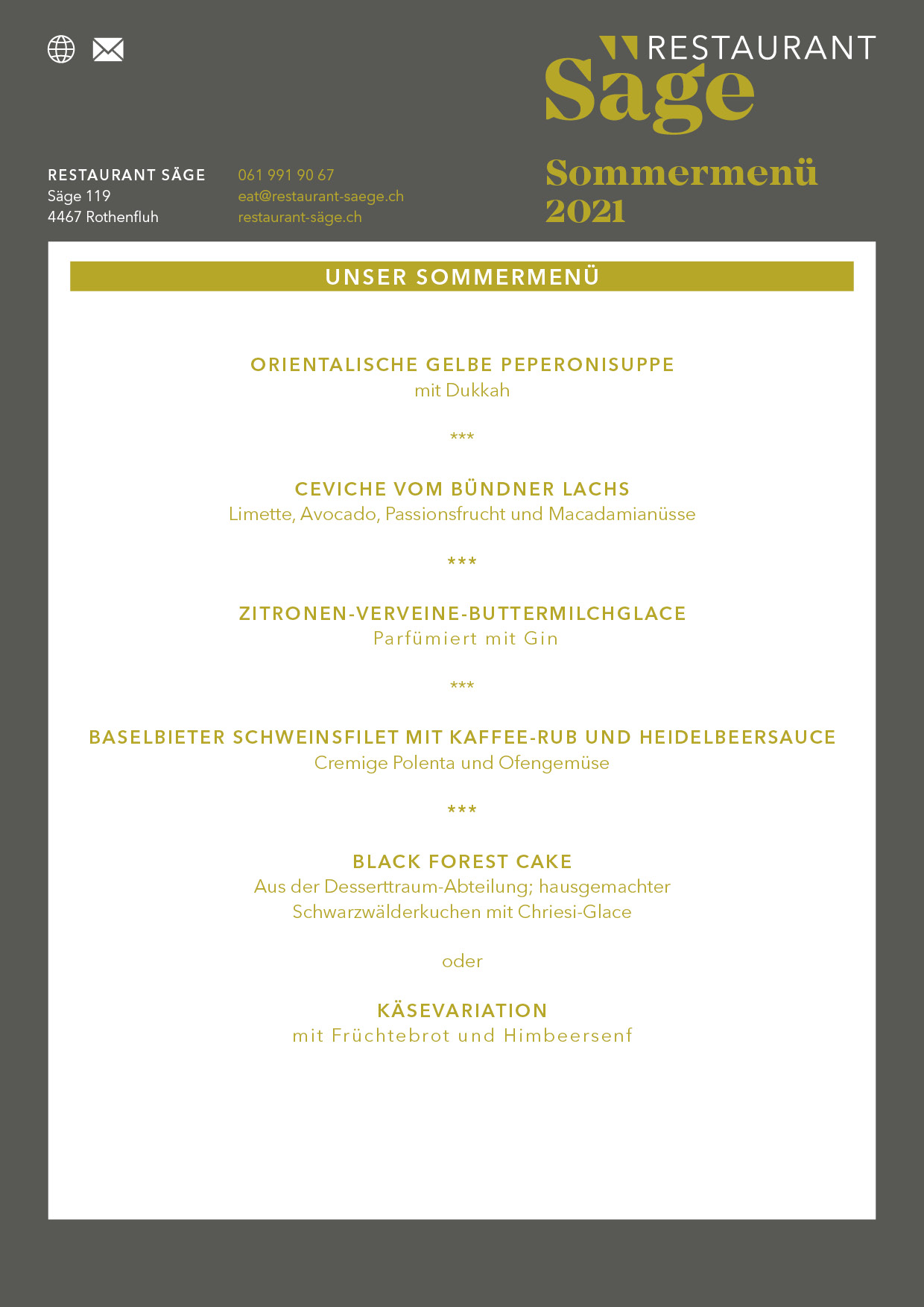 Restaurant Säge Sommermenu21